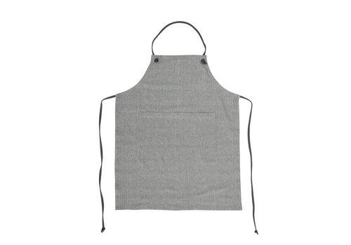 Bloomingville Keukenschort grijs katoen