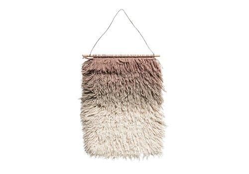 Bloomingville Wandhanger roze wol
