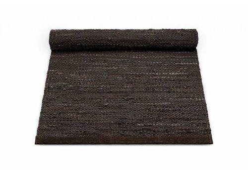 Rug Solid Lederen tapijt, choco 170x240 cm