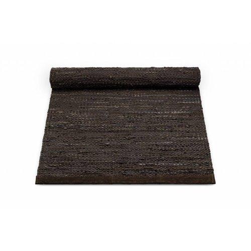 Rug Solid Lederen tapijt choco 170 x 240