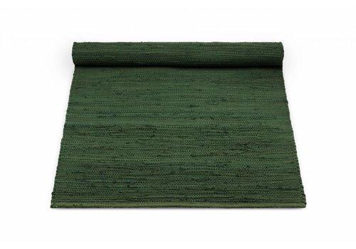 Rug Solid Katoenen tapijt, guilty green 60x90 cm