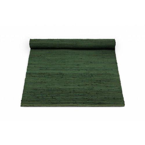 Rug Solid Katoenen tapijt guilty green 60 x 90
