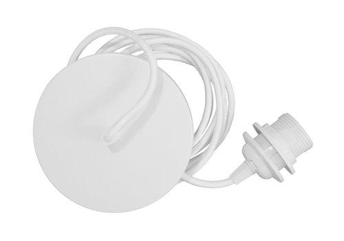 Umage Socket wit met metalen rozet voor hanglamp Umage