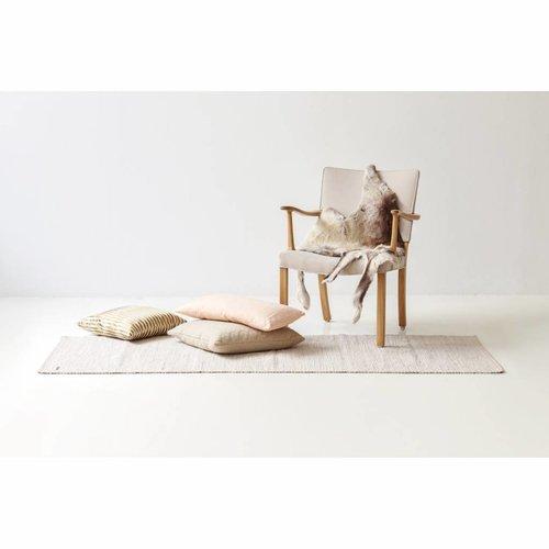 Rug Solid Katoenen tapijt desert white 65 x 135