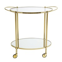 Trolley glas/goud