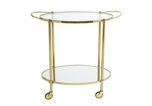 Bloomingville Trolley glas/goud