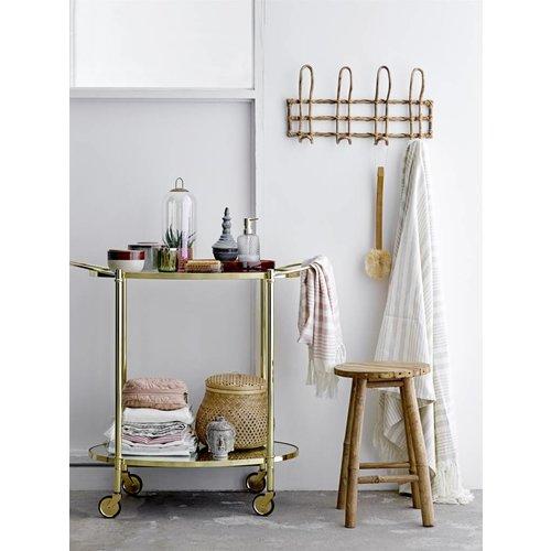 Bloomingville Fine trolley glas/goud