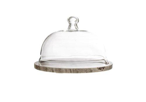 Bloomingville Kaasstolp glas/marmer
