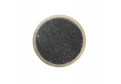 Ferm Living Hook Stone haakje messing zwart marmer Small