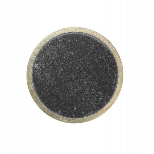 Ferm Living Stone haakje messing en zwart marmer small