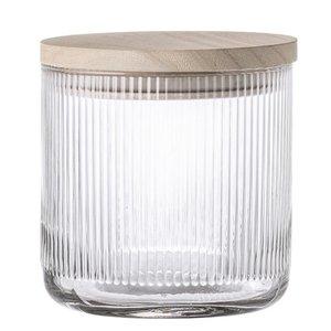 Bloomingville Glazen voorraadpot met deksel Ø12xH 12cm