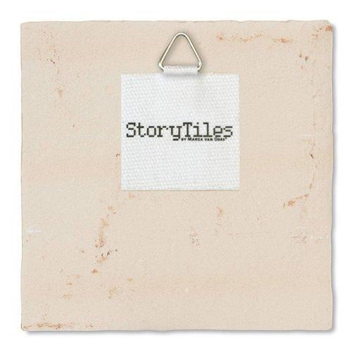 StoryTiles tegel Op een onbewoond eiland Small 10x10 cm