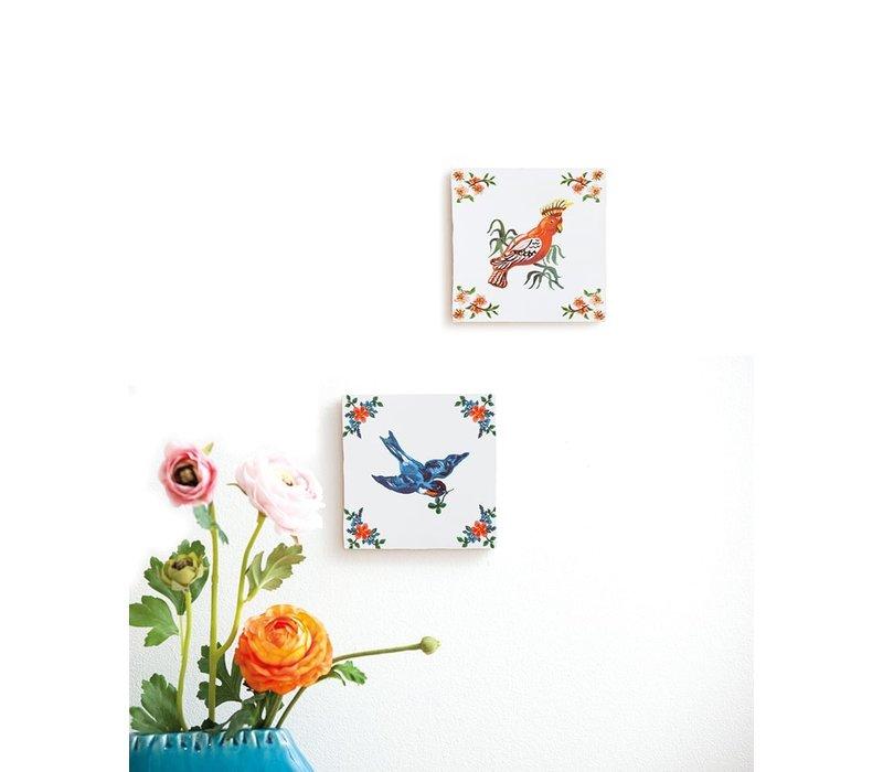 "Tegel ""Geluksvogel"" (Small 10x10 cm)"