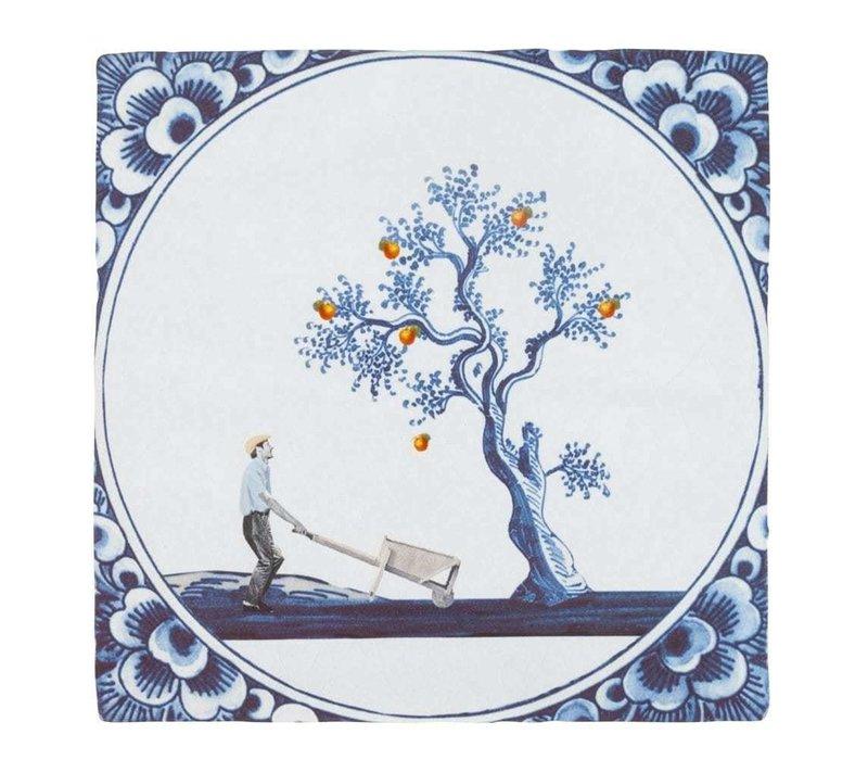 tegel De appel valt niet ver van de boom Small 10x10 cm