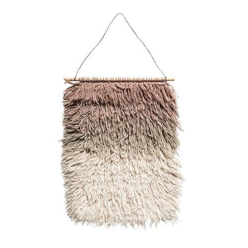 Bloomingville Muurhanger roze wol