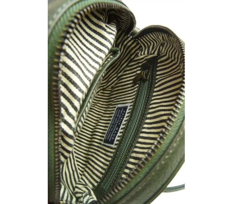 Luna handtas - soft grain leather green