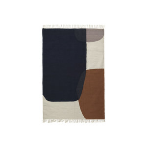 Ferm Living Merge kelim tapijt medium 140 x 200