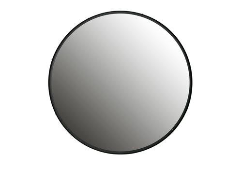 WOOOD Lauren spiegel metaal zwart diameter 80 cm