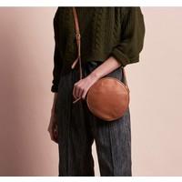 Luna handtas - soft grain leather wild oak