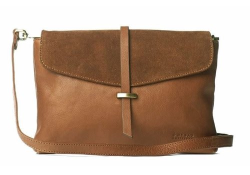 O My Bag Ella midi handtas - soft grain leather wild oak