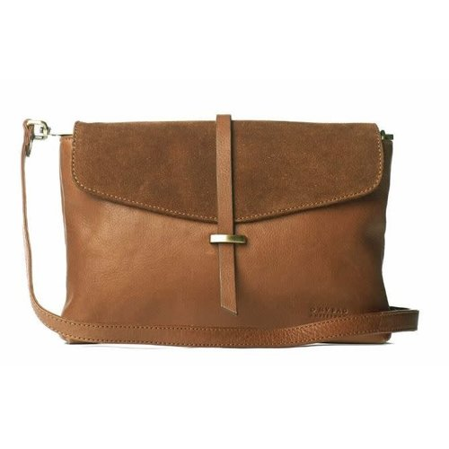 O My Bag Ella midi handtas - soft grain leather wild oak