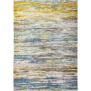 Louis De Poortere Rugs Sari blue yellow mix tapijt Sari Collection