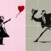 IXXI wanddecoratie Banksy Love Icons 80 x 100 cm