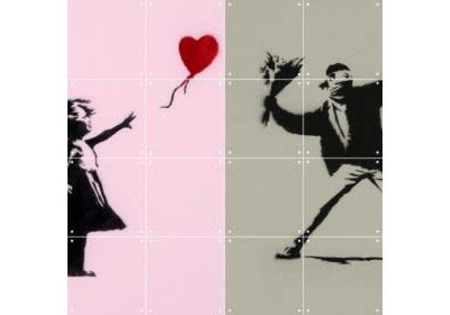 IXXI IXXI wanddecoratie Banksy Love Icons 80 x 100 cm