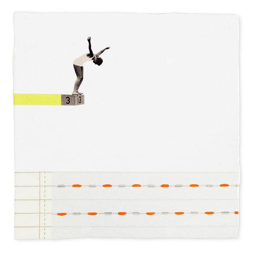 StoryTiles tegel Een sprong in het diepe medium 13x13cm