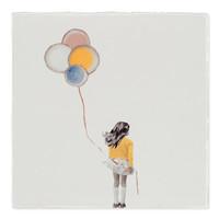 tegel Een wensballon Small 10x10cm