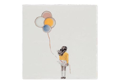 StoryTiles tegel Een wensballon Small 10x10cm