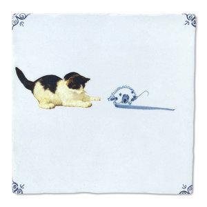 StoryTiles tegel Kat en muis Small 10x10cm