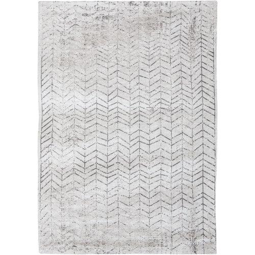 Louis De Poortere Rugs Jacob's ladder black on white tapijt Mad Men Collection
