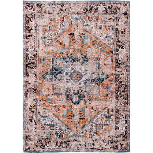 Louis De Poortere Rugs Antique Heriz seray orange tapijt Antiquarian Collection