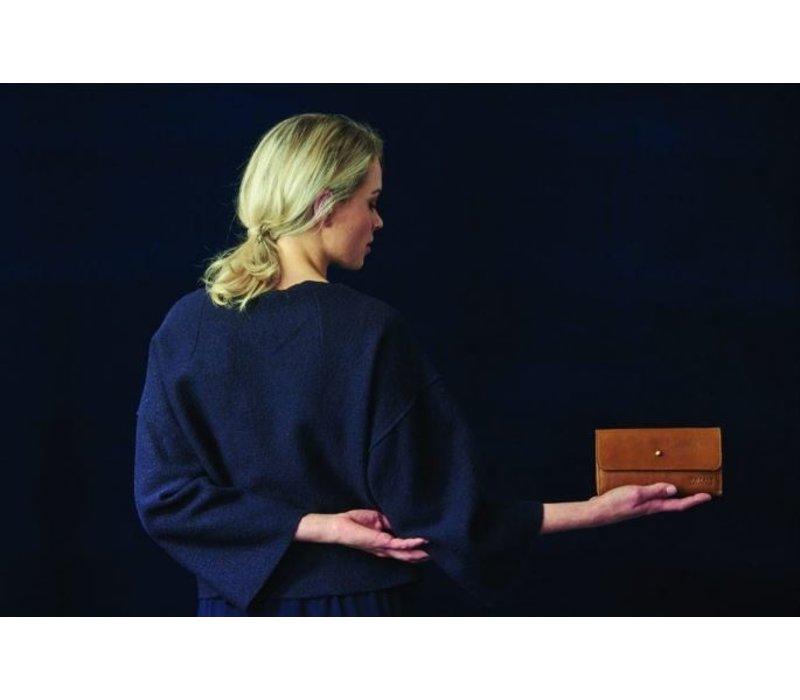 Pixie's Pouch - soft grain leather wild oak