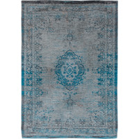 Medallion grey turquoise tapijt Fading World Collection