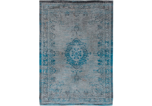 Louis De Poortere Rugs Medallion grey turquoise tapijt Fading World Collection