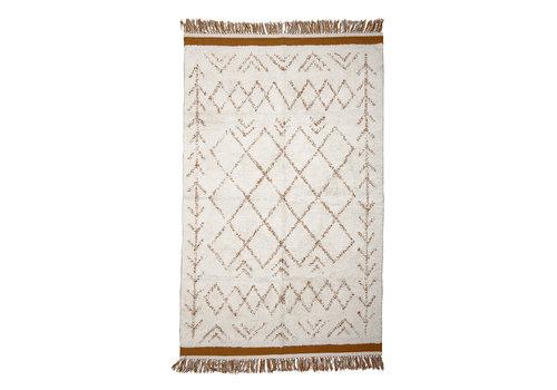 Bloomingville Collected tapijt witte katoen 120 x 200 cm