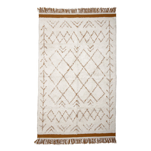 Bloomingville Collected tapijt witte katoen 120 x 200