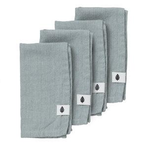 Bungalow Saara servet celadon 45 x 45 - set van 4