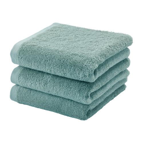Aquanova London handdoek groen 55 x 100 set van 3