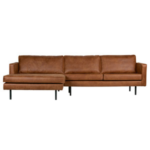 BePureHome Rodeo chaise longue links recycle leer