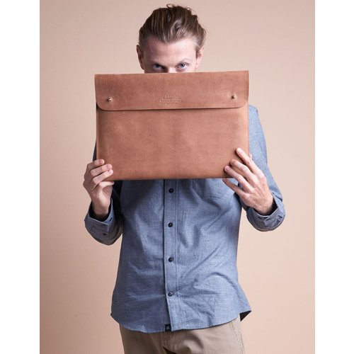 "O My Bag Laptophoes 15"" - hunter leather camel"