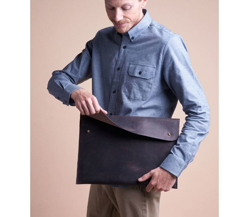 "Laptophoes 15"" - eco dark brown"