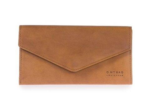 O My Bag Pixie enveloppe portefeuille- classic leather cognac