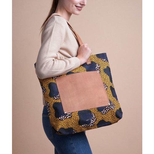 O My Bag Lou's big bag yellow handtas