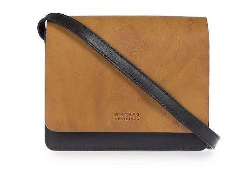 O My Bag Audrey Mini handtas - classic leather zwart/cognac