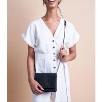 Audrey Mini handtas - classic leather black/croco