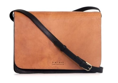 O My Bag Audrey handtas - classic leather black/cognac