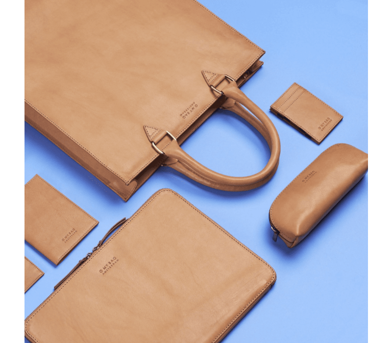 Pennenzak small - classic leather naturel
